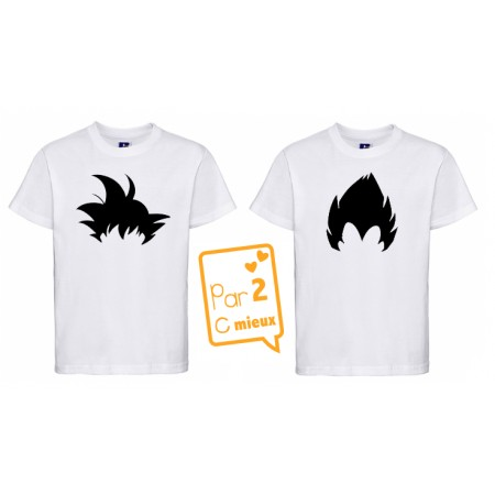 2 T-shirts Dragon Ball ML ou MC