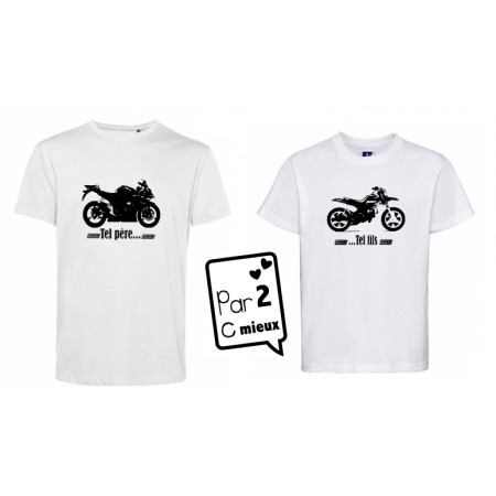 2 T-shirts *Moto* Mc ou ML
