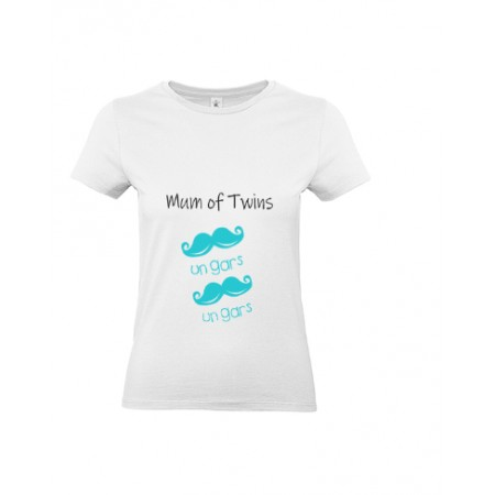 T-shirt Mum of twins 2 Garçons MC ou ML