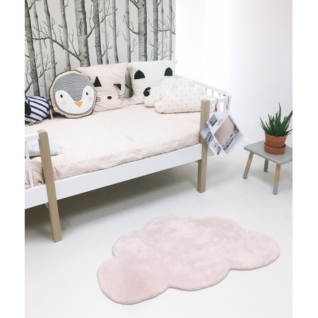 TAPIS COTON FORME NUAGE ROSE LAYETTE LILIPINSO