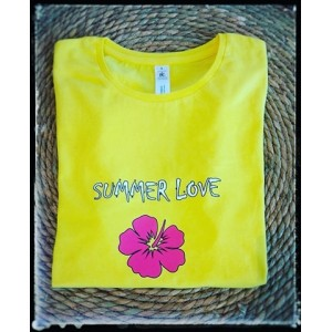 T-SHIRT SUMMER LOVE HIBISCUS