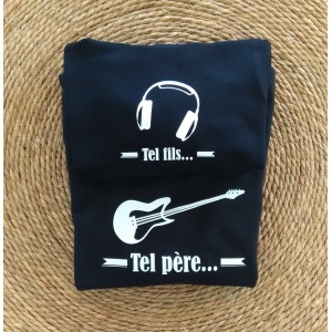 1 Sweat papa + 1 Sweat enfant Tel Père ... Guitare