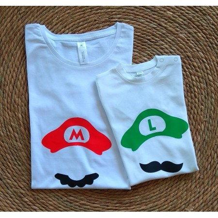 1 T-shirt Geek Adulte et 1 T-shirt Enfant