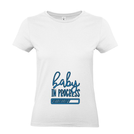 T-shirt Grossesse *Baby in progress* petite fille