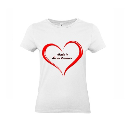 1 T-Shirt *Made in Aix en Provence Coeur*
