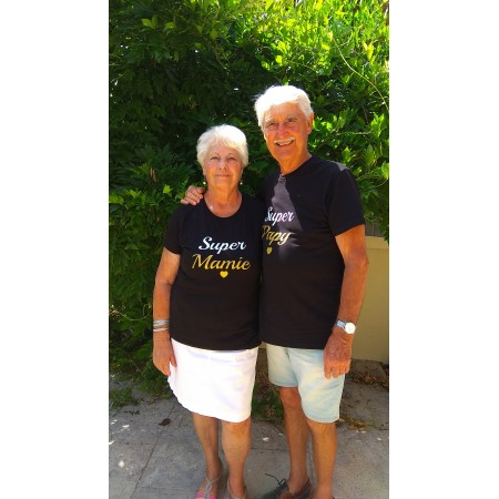 2 T-shirts Je t'aime Papa & Maman ML & MC