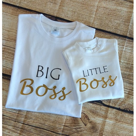 1 T-shirt Adulte et 1 T-shirt Enfant Boss