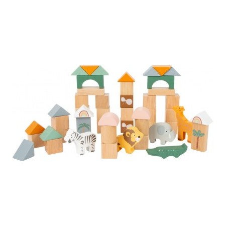 BLOCS DE CONSTRUCTION SAFARI SMALL FOOT LEGLER