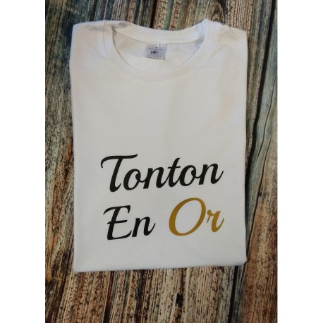 T-shirt TONTON en Or