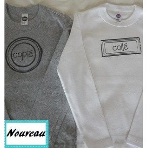 2 T-shirt Copié collé ML